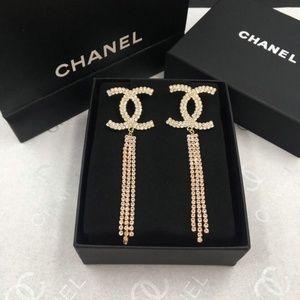Chanel CC Gold Earrings